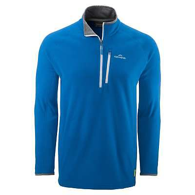 Kathmandu Ridge Mens 1/4 Zip Jumper Warm Fleece Hiking Pullover v3 Blue