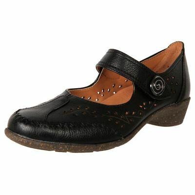 New European Made Women's Orthotic-Friendly Leather Mary Jane Work Shoe Clucky
