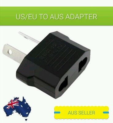 US/EU Universal to AU AC Power Plug Adapter Travel 2 pin Converter.IN AUS STOCK