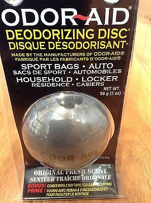 New Odor Aid Deodorizing Disc Combat Smell Boxing MMA Hockey Silver