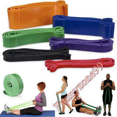 New Body Building Power Lifting Resistance Band Exercise Weight Workout Yoga Gym