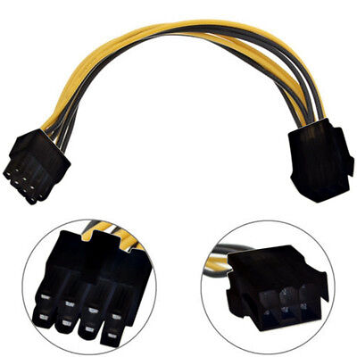 6 to 8 Pin PCI Express Power Converter Cord Cable Connector For CPU Video Card