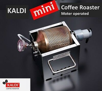 KALDI MINI Coffee Bean Roaster with Moter & Hand Operated for Home Stainless