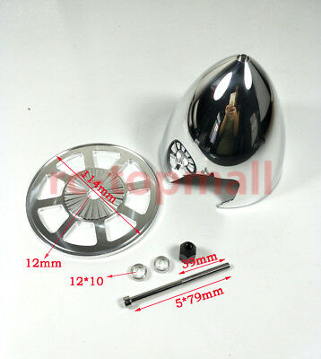 """Miracle 4.5""""/114.30mm Special Drilled Standard Aluminum Prop Spinner w/ 2 Blades"""