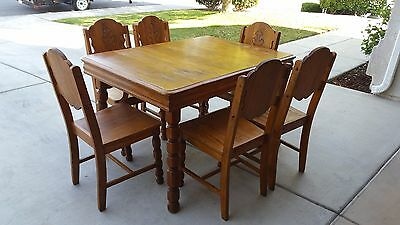 Table and 6 Chairs Mission Spanish Revival Antique Vintage
