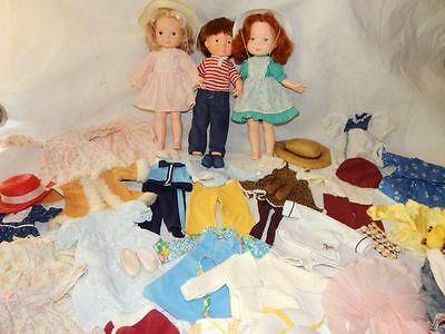 Fisher Price My Friend Mandy, Becky, Mikey Dolls w/ clothing HUGE Lot