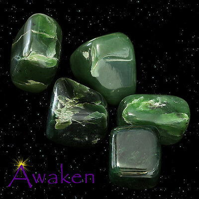 *ONE* NEPHRITE JADE LARGE Natural Tumbled Stone Approx 30-40mm *TRUSTED SELLER*