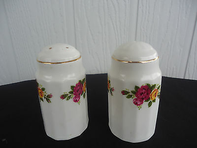 old country roses england salt & pepper shakers