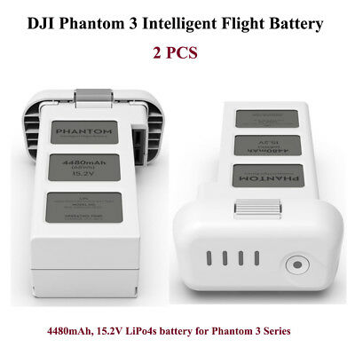 Two Pieces 15.2V 4480mAh 4s Rechargeable Battery for DJI Phantom 3 RC Models
