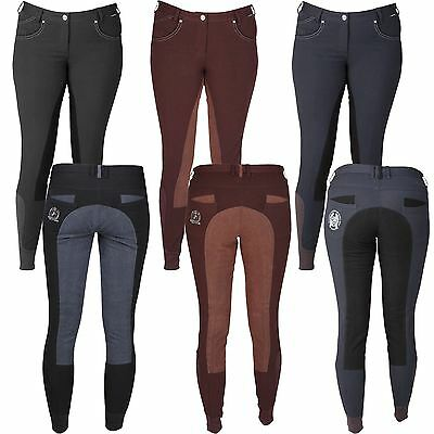 Horka Equestrian Junior Girls Corsica Breathable Soft Comfort Riding Breeches
