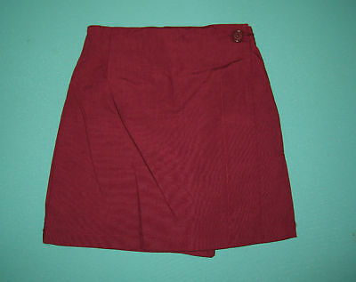 NEW Girls school uniform Skort Maroon size 5 to 16