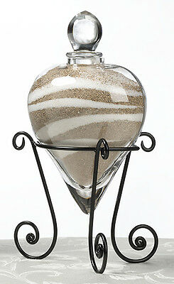 Wedding Unity Heart Vase And Stand Sand Set For Sand Ceremony Clear Glass