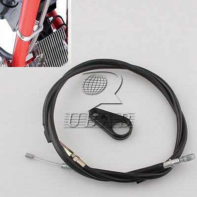 "Motorcycle 65"" Brake Clutch Cable Frame Clamp kit For Harley Sportster 883 1200"