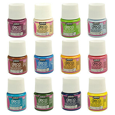 Pebeo Deco MATT Multi-Surface Craft & DIY Acrylic Paint 45ml - New 30 Colours