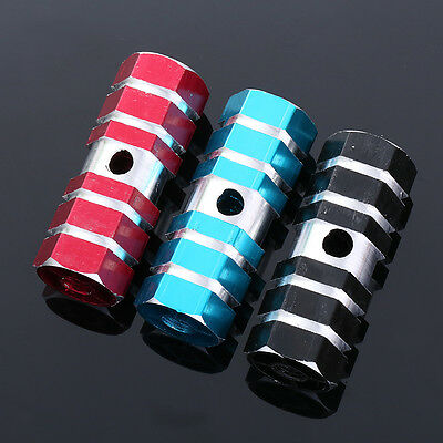 """1 Pair Axle Foot Pegs 3/8"""" Stand Bicycle Part Cycling Aluminium Alloy Outdoor"""