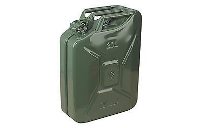 Sealey JC20G Jerry Can 20ltr Litre Green Unleaed Fuel Container Metal