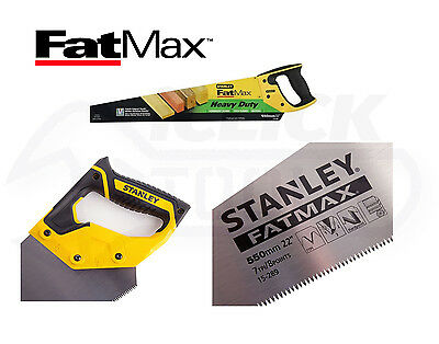 "Stanley STA515289 FatMax Heavy duty Handsaw Saw 550mm 22"" Inch 5-15-289 New"