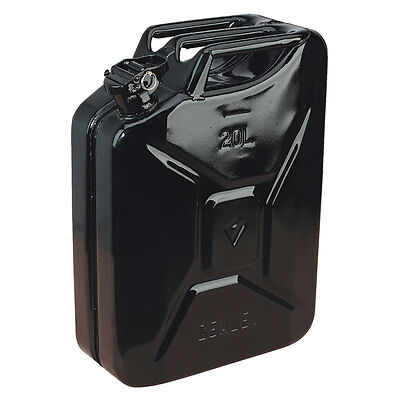 Sealey JC20B Jerry Can 20ltr Litre Black Diesel Petrol Gas Fuel Can - NEW