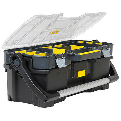 """Stanley STA197514 60cm 24"""" Toolbox Organiser And Tote Tray 2 in 1 1-97-514 New"""