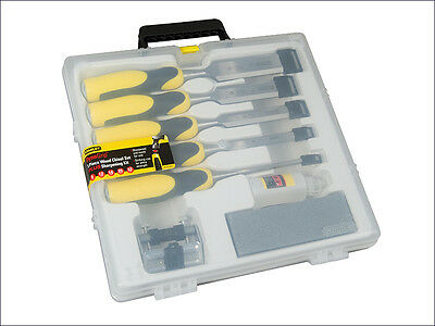 STANLEY STA516421 DynaGrip Chisel Strike Cap Set of 5 Plus Accessory kit New