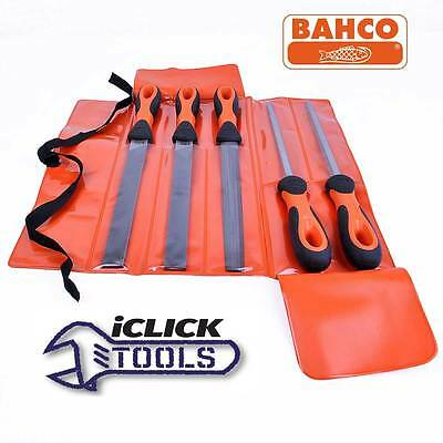 Bahco Bastard Files 5 Piece Assorted Engineers File Set 8 Inch / 200mm 14780812