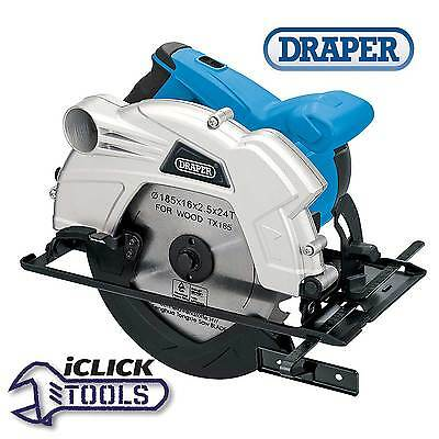 Draper 1300W 230V 185mm Circular Saw / Power Tool With Laser Guide 23034 PT187A
