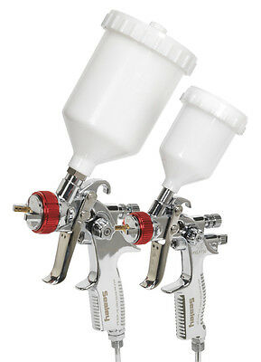 Sealey HVLP774 Gravity Feed HVLP Top Coat / Touch-Up Spray Gun Set New