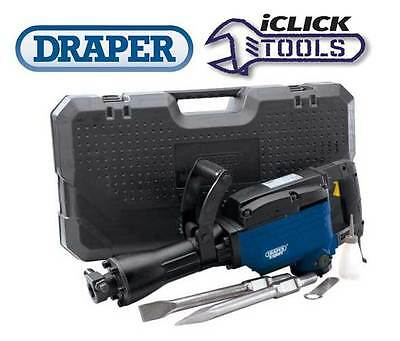 Draper 83352 Concrete Breaker Hammer Drill 15KG 1600W 240V Cased w/ Chisels NEW
