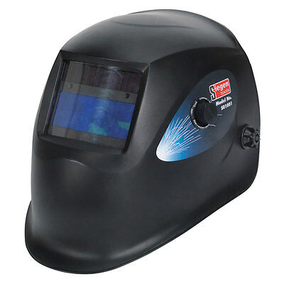 Sealey Siegen S01001 Solar Powered Auto Darkening Welding Helmet 9-13 Shade NEW