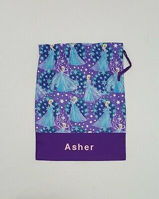 $Free Name Frozen Queen Elsa Personalised Embroidery Library Bag (Fd)