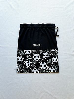 $$$ Free Name Soccer Ball Model1 Personalised Embroidery Library Bag Kinder Fd