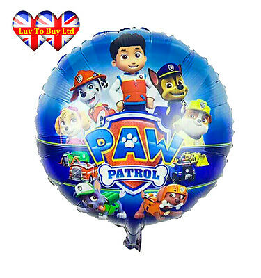 Paw Patrol Foil Balloons (Pack Of 5 For $7)