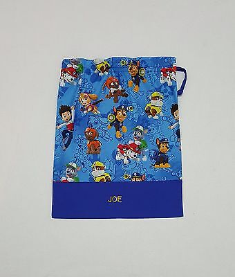 $Free Name Paw Patrol Boy Design Personalised Embroidery Library Bag Fd