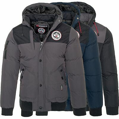 03f9ddd74c04 Geographical Norway Vertigo Herren Winter Jacke warme Outdoor Winterjacke  Parka