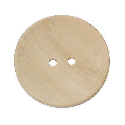 5 Large Natural Wood Buttons, 40mm (4cm). Sewing, embellishments and other craft