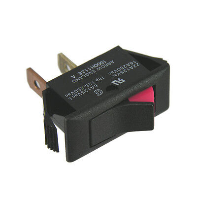 Rocker Switch SPST On/Off 125Vac 22A Indicating Type
