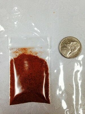 2.3 Grams Red smoked Ghost pepper Bhut Jolokia Powder sample chile hot spice