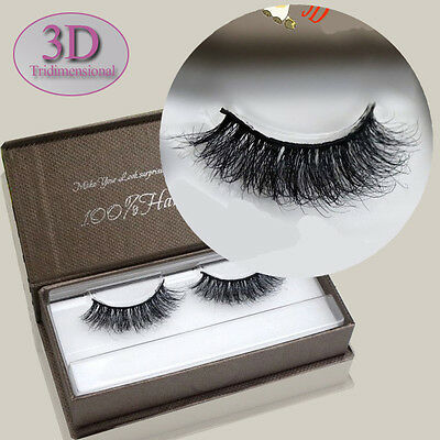 Natural Cross 3D Tridimensional Multilayer Real Mink Hair False Eyelashes