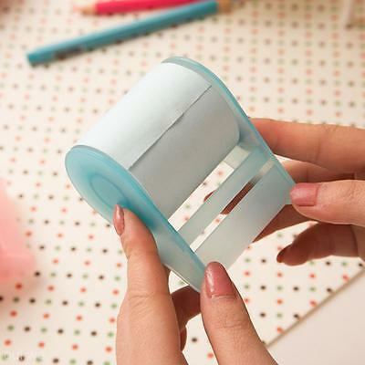 Desk Adhesive Tape Style Fluorescent Paper Post It Sticky Notes Paper Core Blue