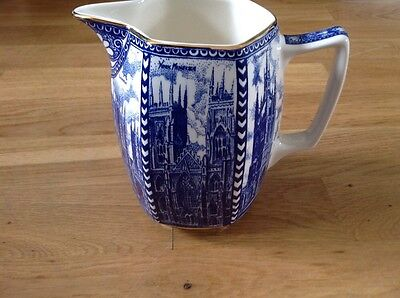 Ringtons Large Jug by Wade Ceramics Cathedrals Blue & White. 16cm Tall