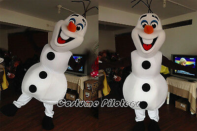 Deluxe 2016 Olaf Mascot Costume Frozen Cosplay Party Dress Adult Free Shipping