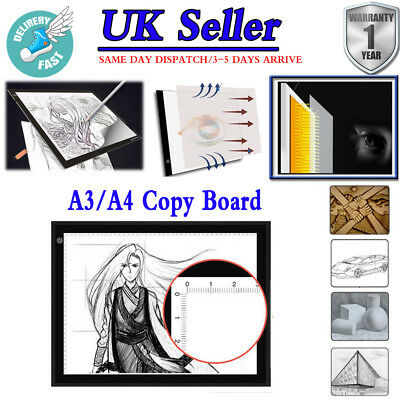 New Ultra Thin A3 A4 LED Art Copy Board Craft Drawing Stencil Table Pad Tracing