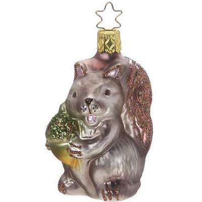 "Inge Glas ""OH NUT'S!"" German Blown Glass Christmas Squirrel Ornament 105712"