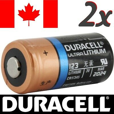 2 Pcs CR123A Lithium Battery Duracell Ultra DL123 Power Photo Batteries.Exp:2024