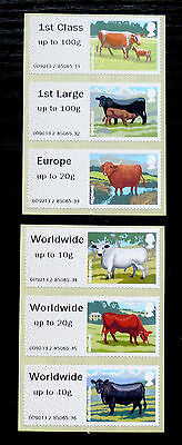 GB Post & Go Pictorials Farm Animals III - set of both types and extra values