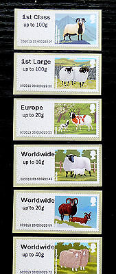 GB Post & Go Pictorials Farm Animals I - set of 8 values