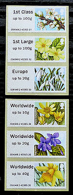 GB Post & Go Pictorials Flora 1 - set of both types and extra values