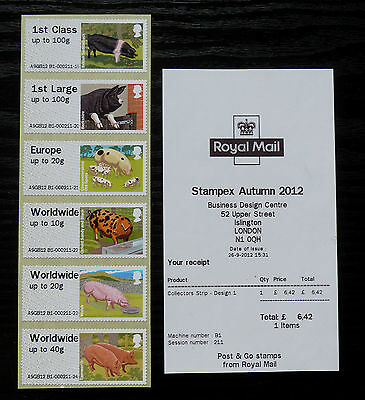 GB Post & Go Pictorials Farm Animals II - set of both types and extra values