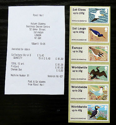 GB Post & Go Pictorials Birds IV - set of two types and extra values
