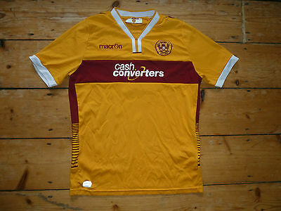 Motherwell FC Football Shirt Small 159-171cm Tall (YL) Home Soccer Jersey SPFL